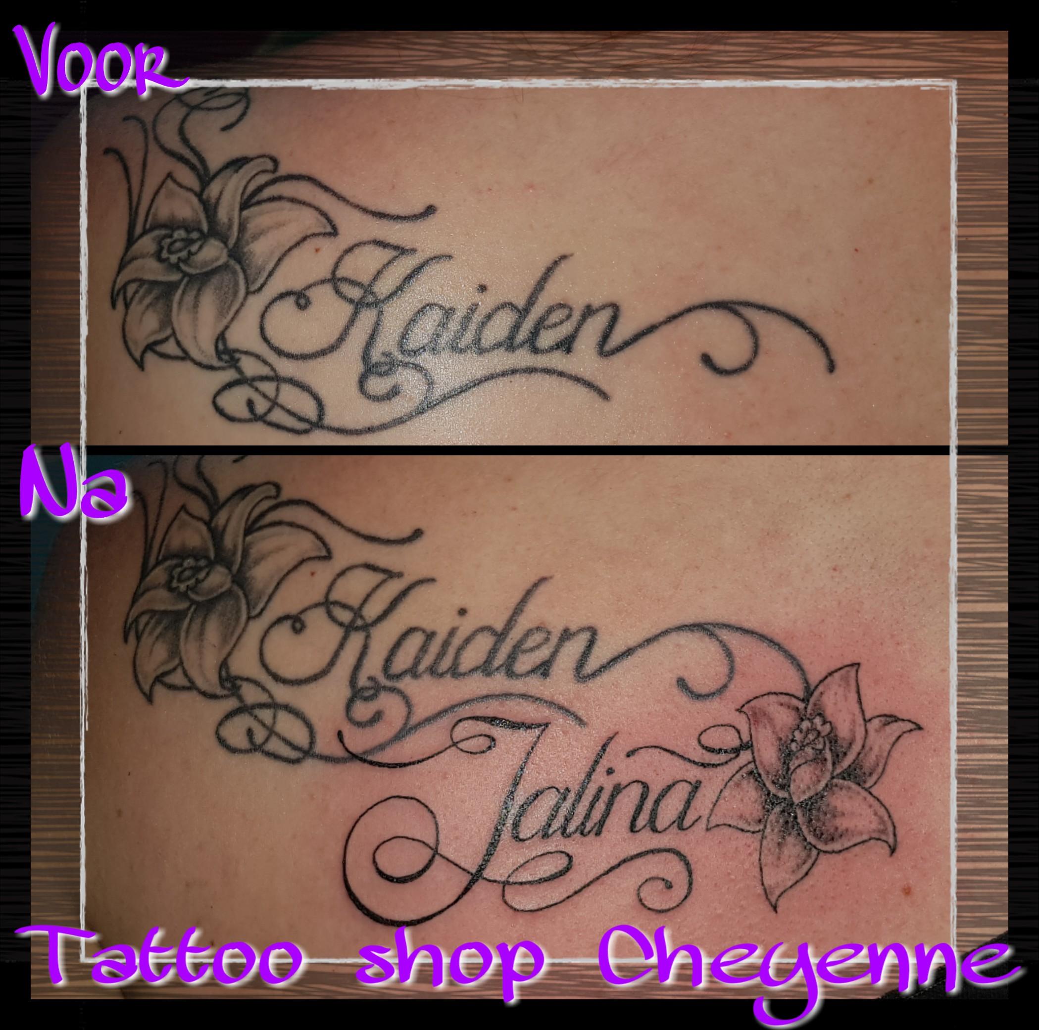 Letters Tatoeage Piercing Ontwerp Tattoo Shop Cheyenne